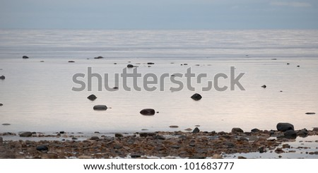 Frozen tundra landscape, Churchill, Manitoba, Canada - stock photo