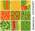 Frozen vegetables backgrounds set - stock photo