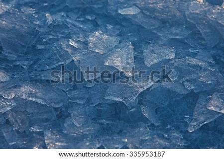 Frozen water - stock photo