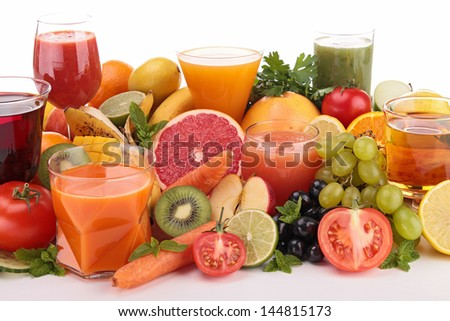 fruit and vegetable juice - stock photo