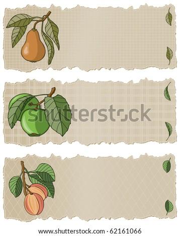 Fruit Banners APP - Raster Version - stock photo