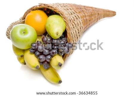 Fruit Cornucopia - stock photo
