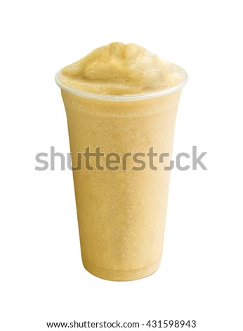 fruit flavored frozen cocktail  - stock photo