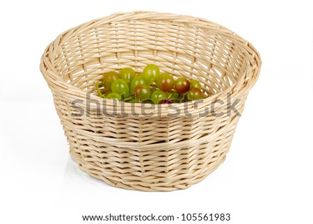 Fruit in basket - stock photo