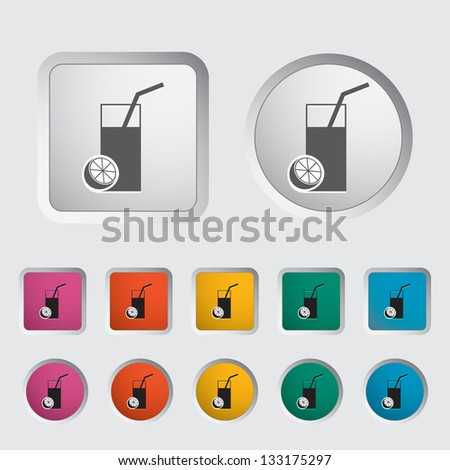 Fruit juice icon. Vector version also available in my portfolio. - stock photo
