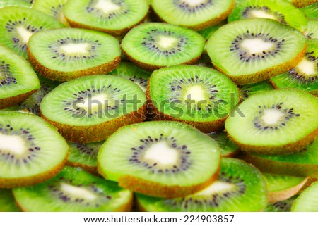 fruit kiwi as element meal - stock photo
