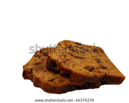 Fruit Loaf Slices - stock photo