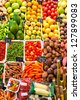 Fruit market in Barcelona, Spain - stock photo