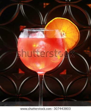 Fruit punch and orange cocktail  - stock photo