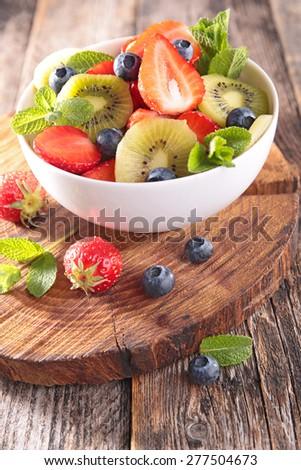 fruit salad - stock photo