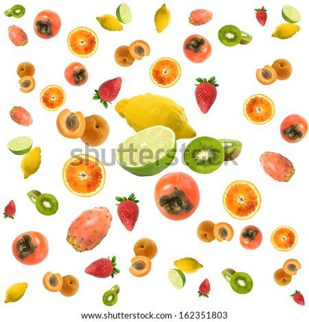 fruit salad steering wheel - stock photo