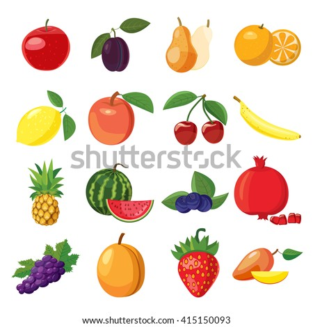 Fruit set - stock photo
