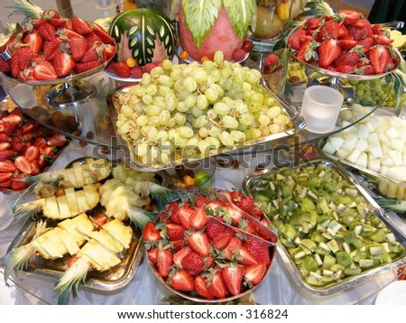 Fruit table - stock photo