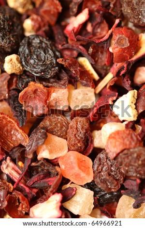 Fruit tea ingredients - stock photo