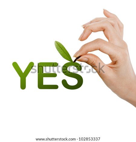 fruit yes concept - stock photo