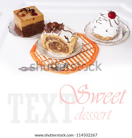 Fruitcake biscuit.Sweet - stock photo