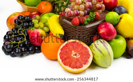 Fruits All Together - stock photo