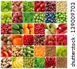 fruits and vegetables backgrounds - stock photo
