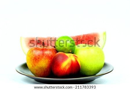 Fruits plate - stock photo