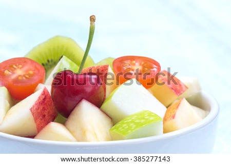 Fruits salad  for healthy lifestyle - stock photo
