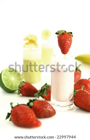 Fruity smoothies - stock photo
