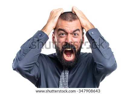 frustrated man - stock photo