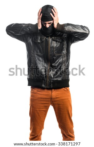frustrated Robber  - stock photo