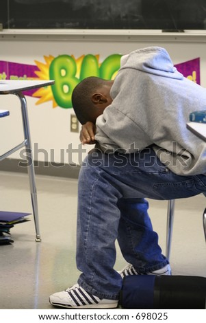 Frustrated student - stock photo