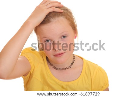 Frustrated teenage girl - stock photo