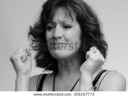 Frustrated Woman - stock photo