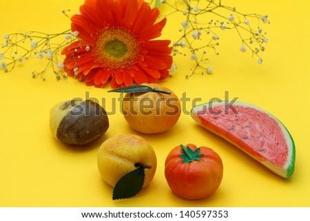Frutta di Martorana (marzipan sweets from Sicily) - stock photo