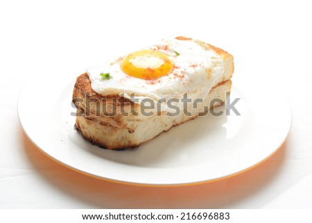 fry egg with toast  - stock photo