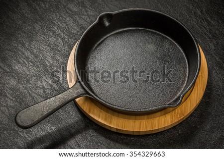 fry pan skillet No-brand - stock photo