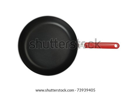 Frying pan. It is isolated on a white background - stock photo