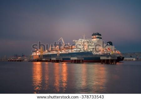 FSRU vessel - stock photo