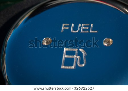 fuel cap polished - stock photo