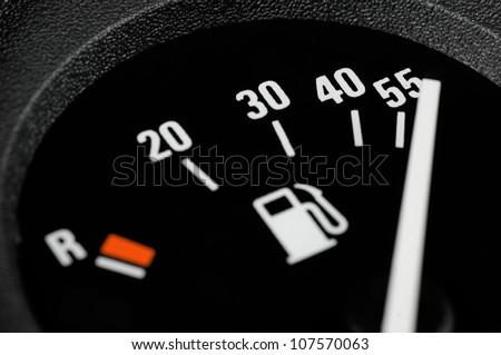 Fuel gauge - stock photo