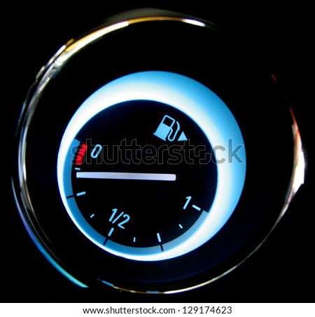 Fuel gauge - stock photo