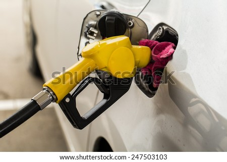Fuel nozzles - stock photo