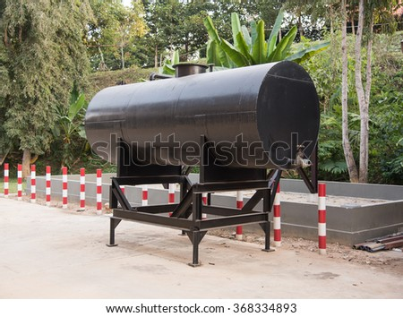 fuel oil tank  - stock photo