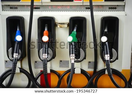 Fuel pumps - stock photo