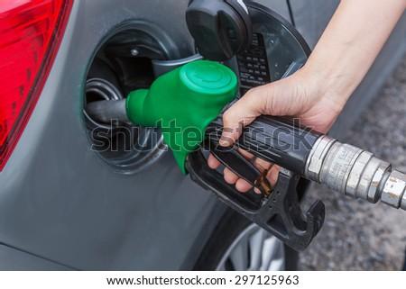 Fuel refueling - stock photo