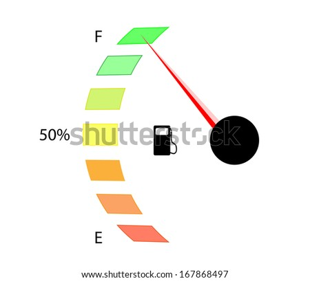 Fuel sign on white - stock photo