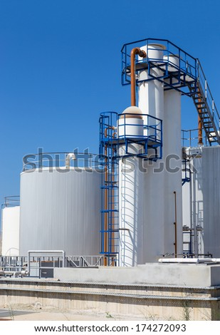 Fuel storage tanks in industry  - stock photo