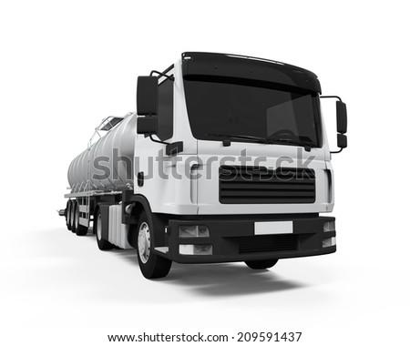 Fuel Tanker Truck - stock photo