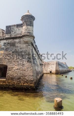 Fuerte de San Fernando fortress on Tierrabomba island near Cartagna, Colombia. - stock photo