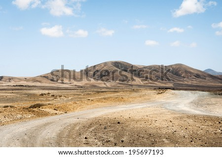 Fuerteventura Landscape - stock photo