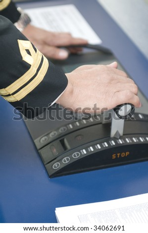 Full ahead ! - stock photo