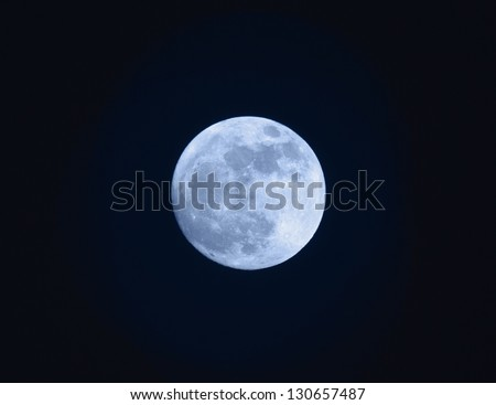 Full Blue Moon - stock photo