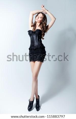 Full-body female portrait - stock photo